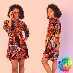 Vestido blusón #KIKAMAGA #Vístetecomoquieras Chalys estampado - Talla M Disponible para entrega inmediata. $50.000 📷 @hedosalcedo  #barranquilla #colombia #vestido #blusa #dama #mujer #ropa #casual #flores #colores #afro #shoponline #ecomerce #tattoo #estampado
