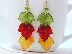 Falling Leaves Earrings by MyCreativeOasis on Etsy, $11.00