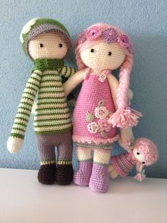 boy & girl mod made by Jessica Z. / based on lalylala crochet patterns
