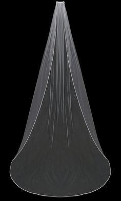 Beaded Pearl Edge Cathedral Length Wedding Veil enVogue V802C