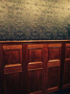 Wood Paneling anaglypta wallpaper