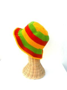 BLACK//BLUE REVERSIBLE BEANIE HAT 100/% COTTON 1 SIZE FITS ALL ROOTS REGGAE RASTA