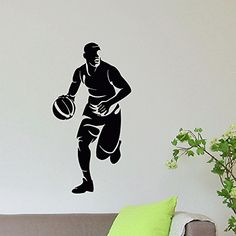 Wall Decal Vinyl Sticker Gym Sport Basketball Player Decor Sb589 ElegantWallDecals http://www.amazon.com/dp/B01209HP10/ref=cm_sw_r_pi_dp_QNiYvb09F6DV7