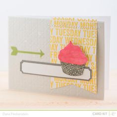 Cupcake Card by @Dana (made with Front Row Card Kit) @Gail Mounier Calico #studiocalico