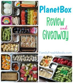 I think this is so cute even though my kid would never eat any of it. Planetbox Review and Giveaway - FamilyFreshMeals.com