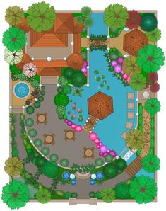 landscape drawings of gardens Google Search Garden model
