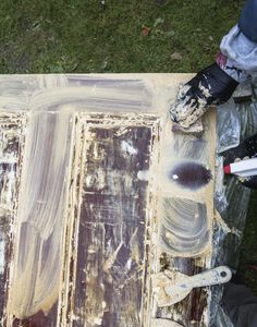 How to Strip Paint from Doors - House of Brinson Old Doors, Back Doors, Strip Paint, Door Stripping, Diy Home Repair, Spanish Revival, Painted Doors, Exterior Doors, Painting Tips