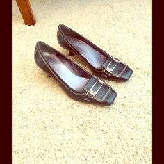 Cole Haan Heels Navy Blue 1 1/2 inch heel. Great for business shoe.  NEVER BEEN WORN. Smoke free and pet free home. Cole Haan Shoes Heels