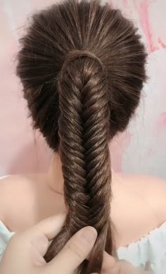 You are in the right place about ponytail hairstyles 2019 Here we offer you the most beautiful pictu Easy Hairstyles For Long Hair, Braids For Long Hair, Braided Hairstyles, Girl Hairstyles, Hairstyle Ideas, Step Hairstyle, Hairstyle Tutorials, Hair Up Styles, Medium Hair Styles