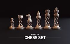 Chess Set on Behance Rose Tattoo On Hip, Modern Chess Set, Chess Tattoo, Sculpture Art, Sculptures, Man Of La Mancha, Tsumtsum, 3d Prints, Chess Pieces