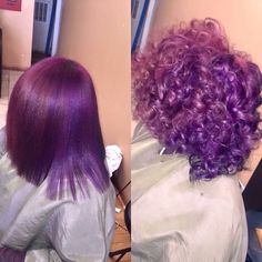 Image in ♡ Hair Goals ♡ collection by Victoria Luna Roesia Baddie Hairstyles, Weave Hairstyles, Pretty Hairstyles, Dyed Natural Hair, Dyed Hair, Purple Natural Hair, Curly Purple Hair, Purple Hair Black Girl, Love Hair