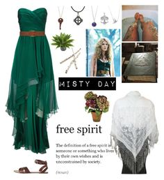 """""""Misty Day AHS Coven"""" by destiniet ❤ liked on Polyvore featuring Coven, Ariella, Dorothy Perkins, Carolina Glamour Collection, Ciel, Nearly Natural, Crate and Barrel, Bling Jewelry and Pieces"""