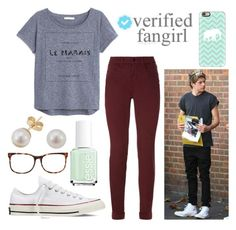 """556."" by itsmy123 ❤ liked on Polyvore featuring MANGO, J Brand, Converse, Essie, Casetify, Other and Linda Farrow Luxe"