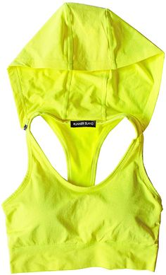 RUNNER ISLAND Womens Sports Bra Hoodie High Impact Strappy Racerback Running Workout Yoga Crop Top Tank at Amazon Women's Clothing store Yellow Sports Bras, Women's Sports Bras, Fitness Gifts, Health Fitness, Marathon Running, Track And Field, Cropped Tank Top, Sports Women, Things That Bounce