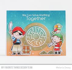 Party Like a Pirate stamp set and Die-namics, You're A-maze-ing, Circle Shaker Window & Frame Die-namics, Ocean View Porthole Die-namics - Melania Deasy #mftstamps