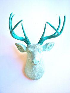 Faux Taxidermy Deer Head wall mount Deerman in by mahzerandvee, $109.00