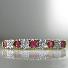 Diamond and Ruby Eternity Ring Gemstone Colors, Gemstone Rings, Ruby Eternity Ring, Ruby Jewelry, Jewellery, Natural Ruby, White Gold, Galway Ireland, Engagement Jewelry