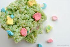 St Patricks Day Rice Krispie Treats classyclutter.net