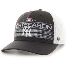 07f2e5cd9fd37b Men's '47 Black New York Yankees 2018 Postseason Official On Field Altitude Adjustable  Hat