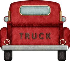 Red truck back