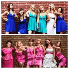 "Definitely doing the ""Bridesmaids"" pose for the wedding photos!"