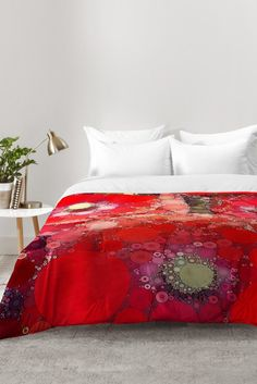 Olivia St Claire Red Poppy Abstract Comforter   DENY Designs Home Accessories, bedding, bedroom decor, red modern