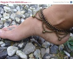 il anklets market anklet her waxed everyday chic for beach pearl etsy boho cord