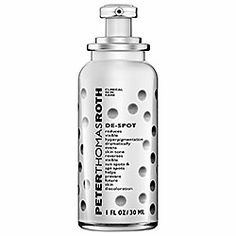 Peter Thomas Roth De-Spot - A gentle and effective solution for melasma/hyper pigmentation. Contains maximum clinically tested levels of ILLUMISCIN®, Niacinamide PC, ACTIWHITE™, Chromabright™, Lipochroman-6, and Caffeine