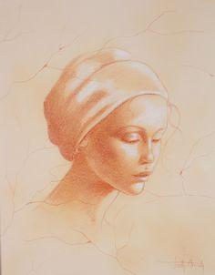 Marie  Paule  Deville  Chabrolle  Visage  de  femme  portant  un  turban