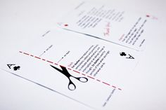 ❤ =^..^= ❤  DESIGN FETISH: Typographic Playing Cards