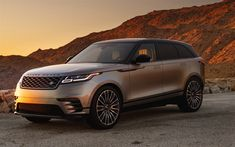 Download wallpapers Land Rover, Range Rover Velar, 2018, new Range Rover, luxury car, sunset, evening, British cars