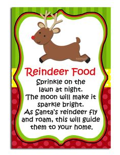 Reindeer Food Printable Labels Instant Download by ThatPartyChick, $7.00