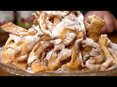 Rączka gotuje - chrust (faworki), prażucha i sandacz w placku - YouTube Apple Pie, Bacon, Breakfast, Desserts, Food, Youtube, Morning Coffee, Tailgate Desserts, Deserts