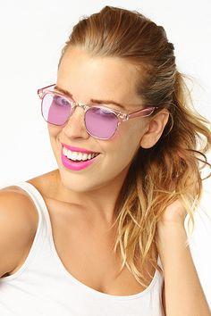'Blaine' Unisex Pastel Clubmaster Sunglasses - Blue #5423-2