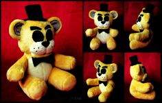Five Nights At Freddy's - Golden Freddy - Plush by roobbo.deviantart.com on @DeviantArt