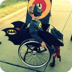 I am... the Batman! For Caleb McClellan and other children who use wheelchairs, here some great ideas.