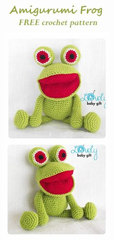 Free Amigurumi Pattern for Frog - Crochet Pattern by Lovely Baby Gift