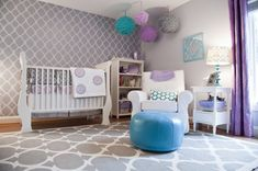 Fabulous Girl Nursery Ideas without a hint of pink! - Design Dazzle
