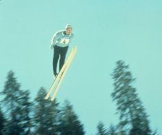 Jumper during the 1960 Winter Games at Squaw Valley