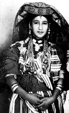Africa Ouled Nail woman. Algeria. Dated 1917. Vintage