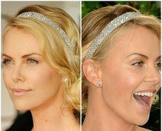 Charlize Theronwearing a diamond Cartier tiara
