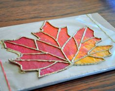 A fun craft almost anytime of year is making fake stained glass with crayons and wax paper. You just lay down a sheet of wax paper, add crayon shavings, and top it with another layer of wax paper. Cover with a paper towel, lightly iron, and cut your shape Art For Kids, Crafts For Kids, Crafts With Crayons, Fall Art Projects, Leaf Projects, 3rd Grade Art, Ecole Art, Art Lessons Elementary, Autumn Art
