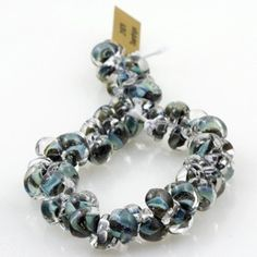 10 Stormy Night 10mm Teardrop Beads  Handmade by TheIndigoRaven, $6.75