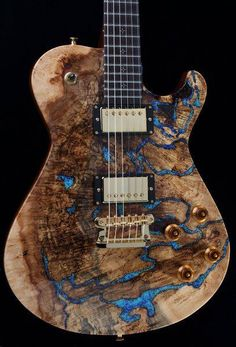 Knaggs Guitars  Kenai T2 with Spalt Maple top and Blue Lapis stone