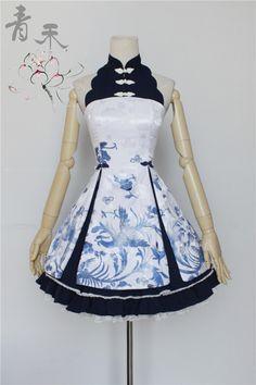 Qinghe ~Phoenix and Flower~ Qi Lolita Jumper Dress