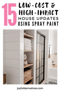 15 House Updates using Spray Paint - Joyful Derivatives Spray Painting Wood Furniture, Furniture Decor, Paint Lamps, Home Renovation, Home Remodeling, Basement Renovations, Diy House Updates, Cheap Houses, Interior Decorating