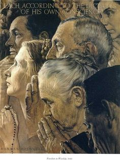 Freedom To Worship  Norman Rockwell, 1934                                                                                                                                                                                 More