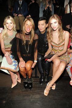 Lala Rudge, Anna Dello Russo, Bryan Boy and Chiara Ferragni in Valentino to the Women's Spring/Summer 2016 fashion show on October 6th, 2015.
