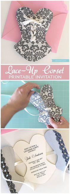 Convite para Chá de lingerie ou festa de 15anos