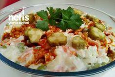 Ezme Karnabahar Salatası - Nefis Yemek Tarifleri Homemade Beauty Products, Potato Salad, Salads, Health Fitness, Meat, Chicken, Ethnic Recipes, Food, Wordpress Theme